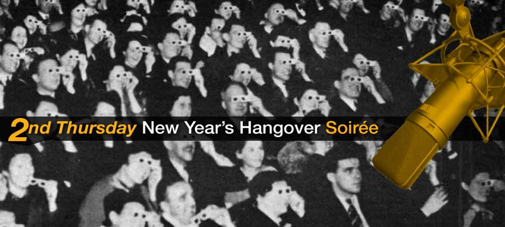 Second Thursday New Year's Hangover Soirée: Interviewing the Audience